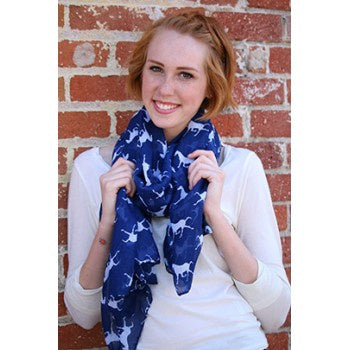 Red Barn Ranch Running Pony Scarf / Wrap 34 x 68
