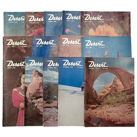 Desert Magazine 14 Vintage Issues 1957 - 1958