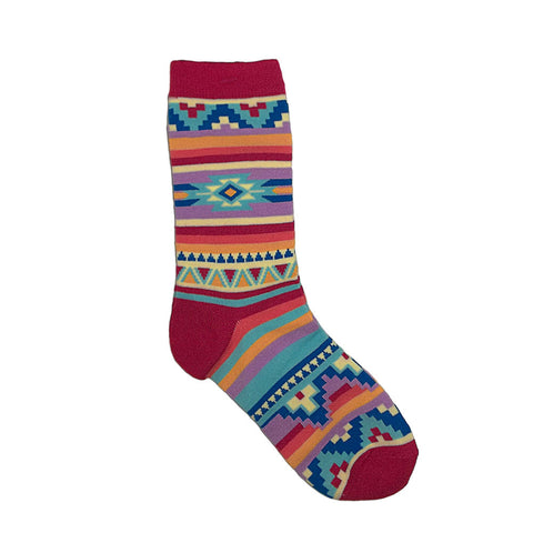 Bright Blanket Native American Design Art Women's Socks Sz 8-11