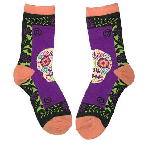 Sugar Skull Day of the Dead Women's Socks One Size Fits Most