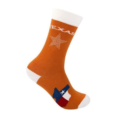 Burnt Orange Texas UTEP Bling Socks