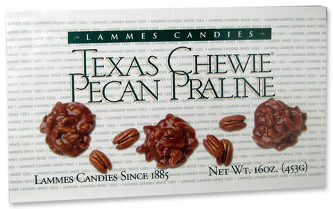 Lammes Candies Texas Chewie Pecan Praline 16 Oz Box