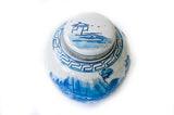 Blue + White Ginger Jar - Mountain Landscape