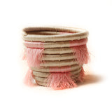 Pink mini eyelash fringe basket