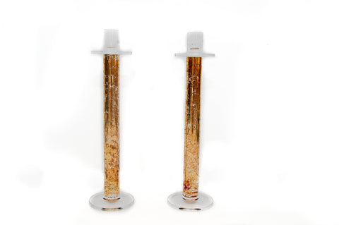 Gold and Lucite Candlesticks