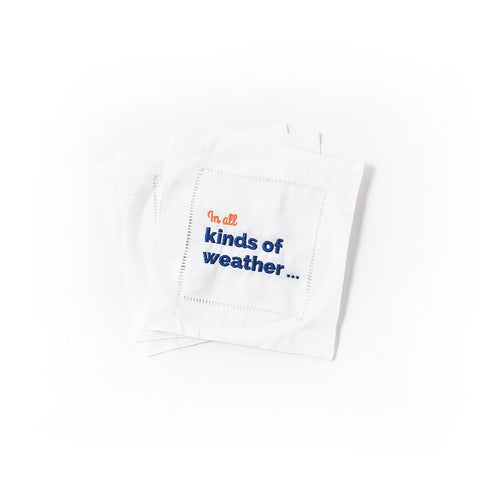 In All Kinds of Weather - JaneHudson Cocktail Napkins