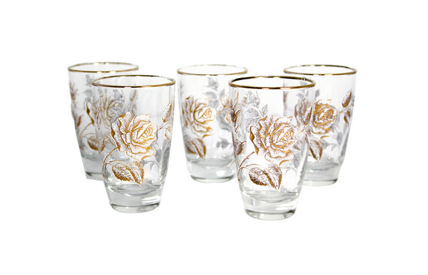 Gold Rose Glasses