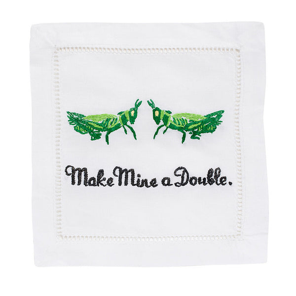 Make Mine A Double Cocktail Napkin Set