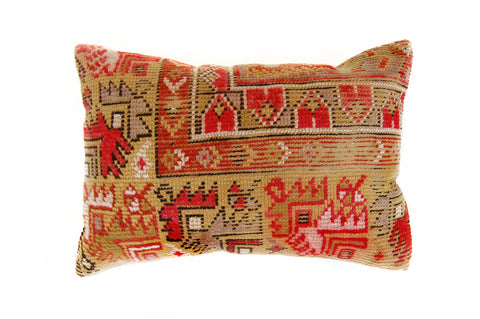 Turkish Kilim Lumbar Pillow