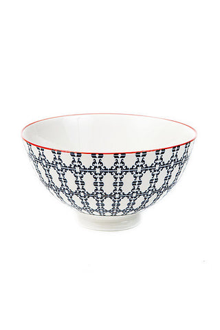 Blue + White Porcelain Diamond Bowl
