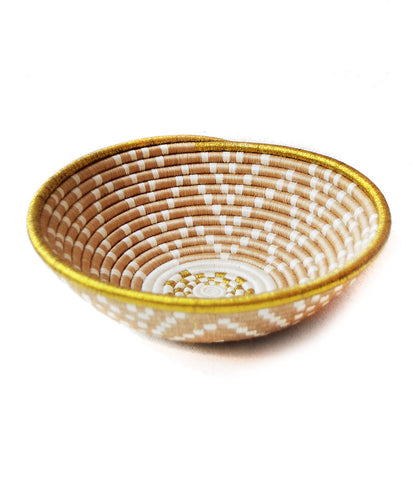 Tan and Gold Plateau Basket