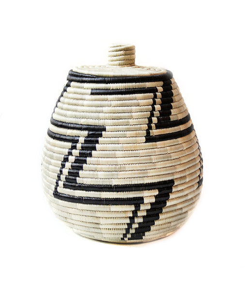 Natural Lidded Basket