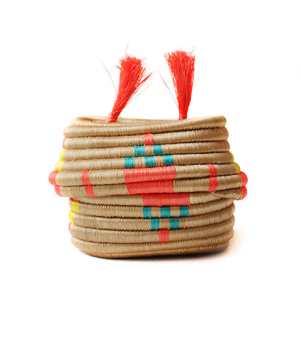 Orange Pom Pom Basket