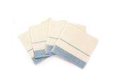 Blue + White Striped Napkins, Set of 4