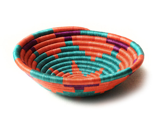 Orange Burst Plateau Basket