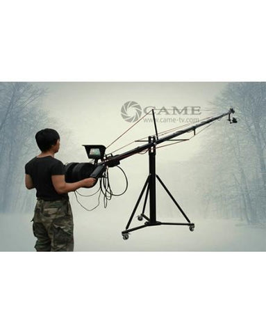 24ft Pan Tilt Head 5 Kilo Jib Arm Camera Crane Video LCD Minitor