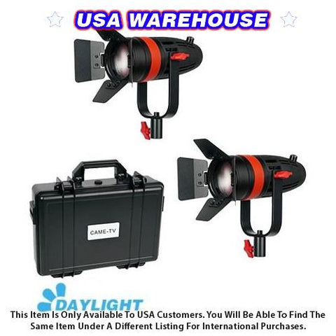 2 Pcs CAME-TV Boltzen 55w Fresnel Focusable LED Daylight Kit - USA Warehouse