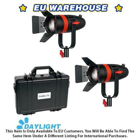 2 Pcs CAME-TV Boltzen 55w Fresnel Focusable LED Daylight Kit - European Warehouse