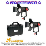 2 Pcs CAME-TV Boltzen 30w Fresnel Fanless Focusable LED Tungsten Kit - USA Warehouse