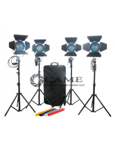 4pcs 650W Fresnel Tungsten Light Video Continuous Lighting