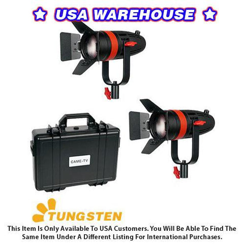 2 Pcs CAME-TV Boltzen 55w Fresnel Focusable LED Tungsten Kit - USA Warehouse
