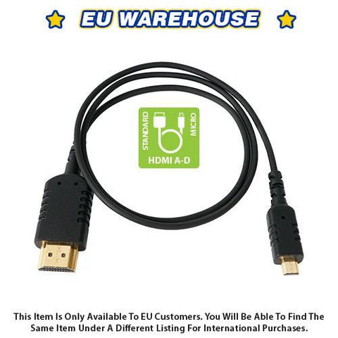 CAME-TV 2 Foot Ultra-Thin and Flexible HDMI Cable AD - European Warehouse