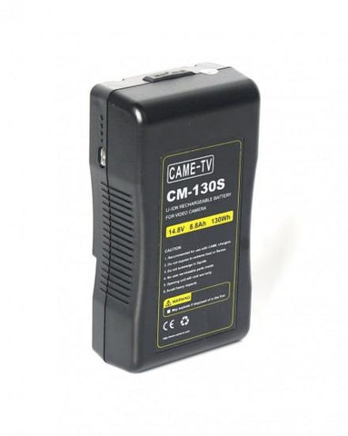 CAME-TV 130Wh Battery V Mount For Video Cameras And Lights
