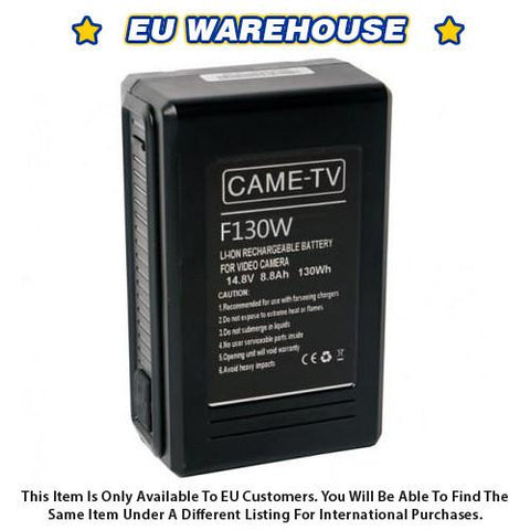CAME-TV Compact V-Mount Li-Ion Battery 130Wh - European Warehouse