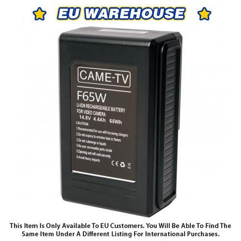 CAME-TV Compact V-Mount Li-Ion Battery 65Wh - European Warehouse
