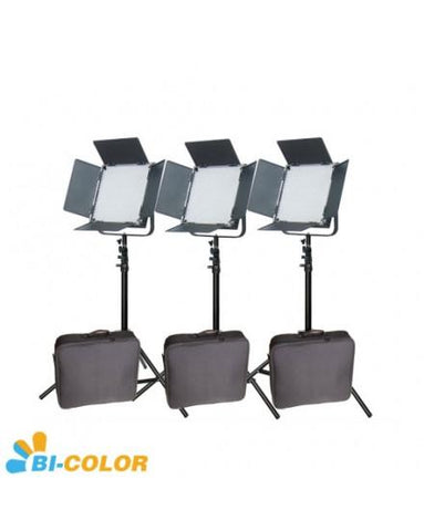High CRI +Bags Bi-Color 3pcs 900 LED Video Studio Film Lights