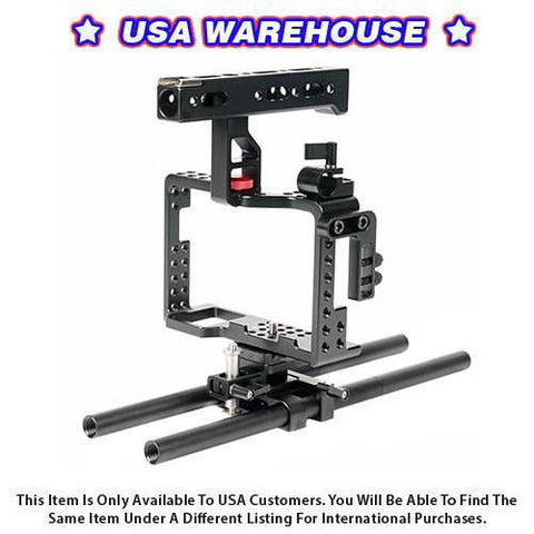 CAME-TV Sony A7RII A7sII Camera Rig 15mm Rod System - USA Warehouse