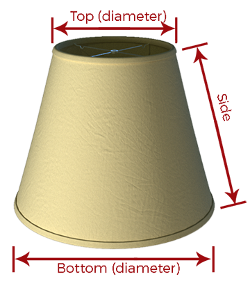 How to choose the right lampshade just shades how to measure your shade lampshade mozeypictures Choice Image