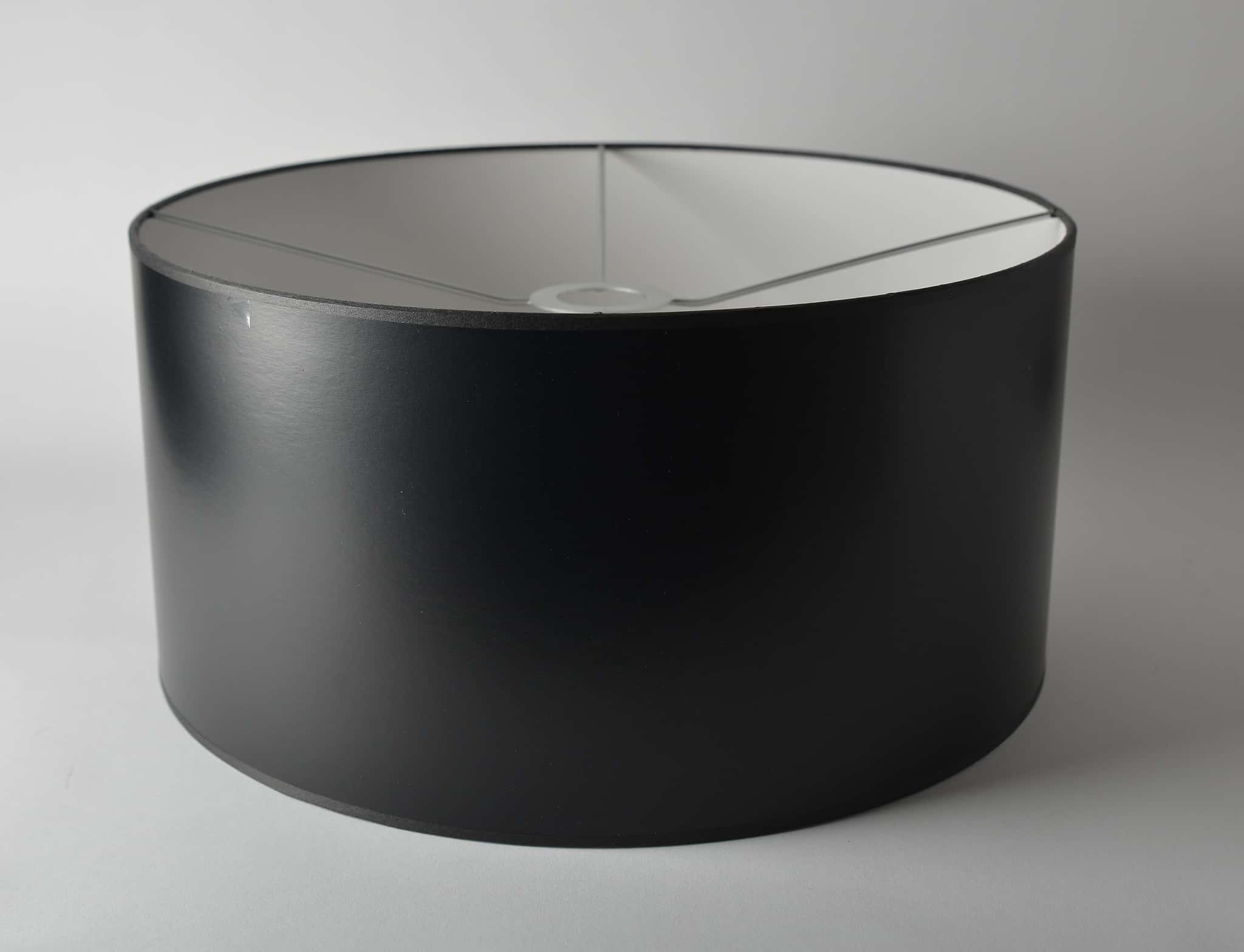 Opaque Paper Shallow Drum Black with Euro Fitter - Just Shades