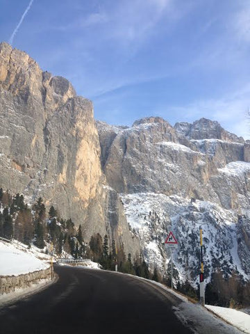 Arriving into the Dolomites by car