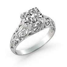 "Load image into Gallery viewer, 1.5 Carat 14K White Gold Diamond ""Madina"" Engagement Ring"