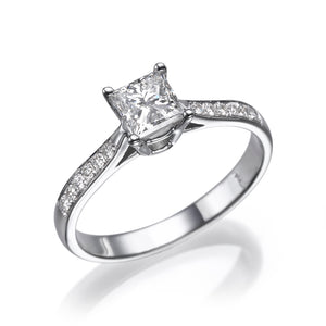 1 Carat 14K White Gold Lab Grown Diamond