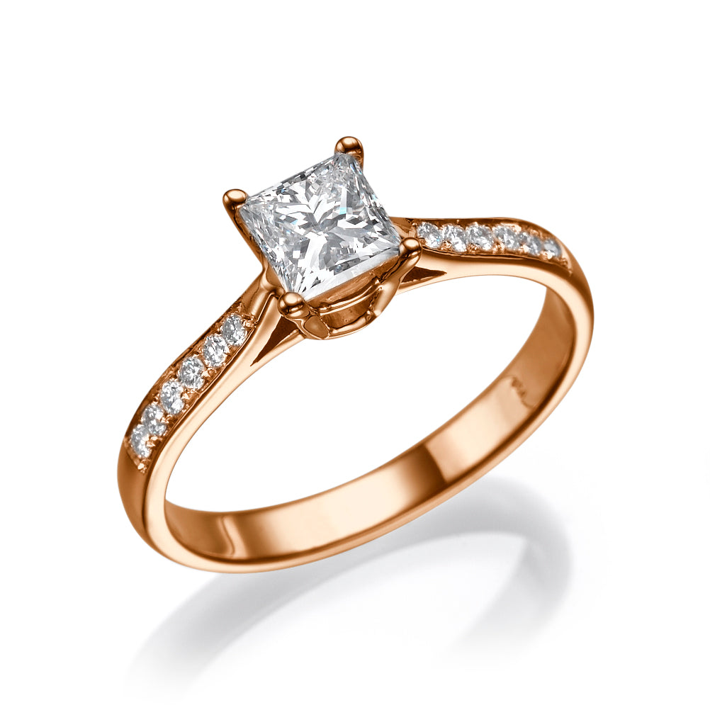 0.6 Carat 14K Rose Gold Diamond