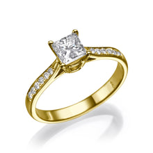 "Load image into Gallery viewer, 1 Carat 14K Yellow Gold Lab Grown Diamond ""Helen"" Engagement Ring"
