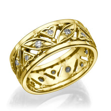 "Load image into Gallery viewer, 0.36 TCW 14K Yellow Gold Diamond ""Sidney"" Wedding Band - Diamonds Mine"