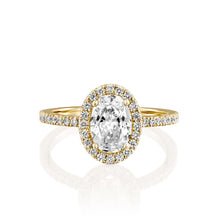 "Load image into Gallery viewer, 2 Carat 14K Rose Gold Diamond ""Mika"" Engagement Ring"