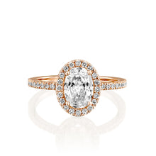 "Load image into Gallery viewer, 1.4 Carat 14K White Gold Moissanite & Diamonds ""Mika"" Engagement Ring"