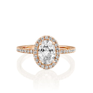 "1.4 Carat 14K White Gold Moissanite & Diamonds ""Mika"" Engagement Ring"