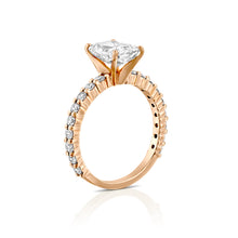 "Load image into Gallery viewer, 2.7 Carat 14K Yellow Gold Moissanite & Diamonds ""Nicole"" Engagement Ring"
