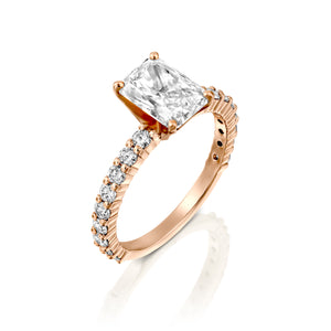 "1 Carat 14K White Gold Diamond ""Nicole"" Engagement Ring"