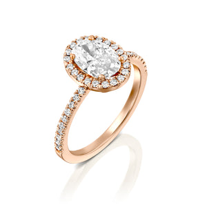 "2 Carat 14K Rose Gold Diamond ""Mika"" Engagement Ring"