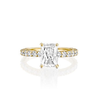2.7 Carat 14K Yellow Gold Moissanite & Diamonds