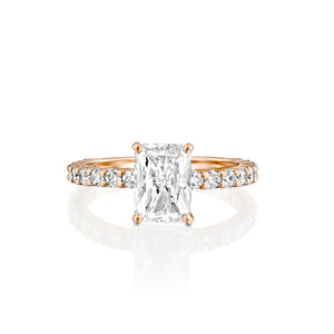 "2.7 Carat 14K Yellow Gold Moissanite & Diamonds ""Nicole"" Engagement Ring"