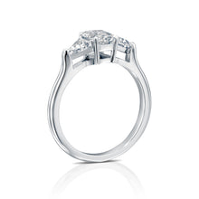 "Load image into Gallery viewer, 3 Carat 14K Yellow Gold Moissanite ""Monica"" Engagement Ring"