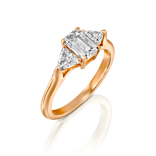 2.1 Carat 14K Rose Gold Moissanite