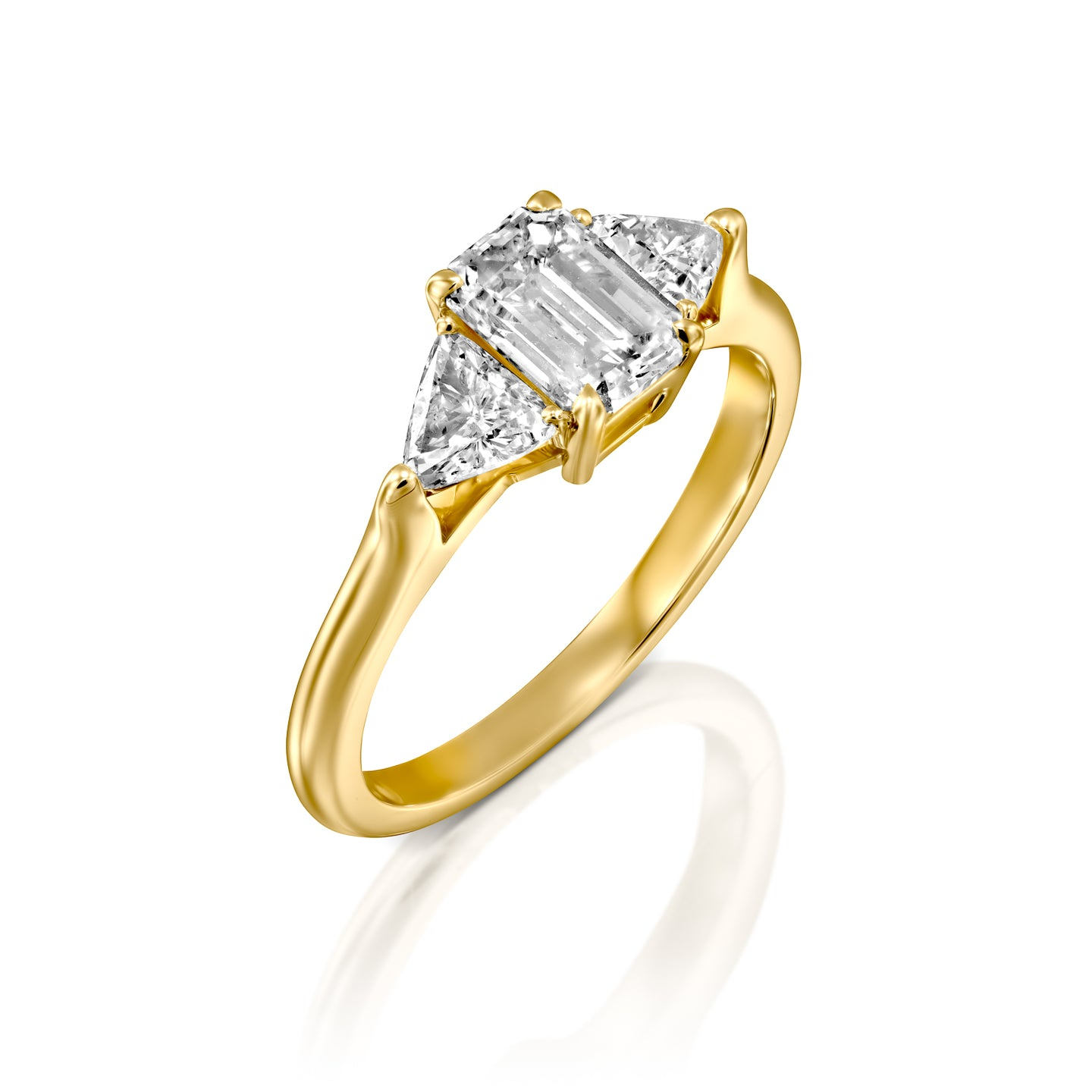 3 Carat 14K Yellow Gold Moissanite